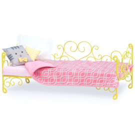 Our Generation - Scrollwork Bed-Yellow Heart