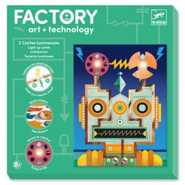 Djeco - Factory Elektro Art Kaarten - Robots