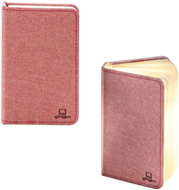 Gingko - Mini Smart Book Light Linen Fabric - Blush Pink