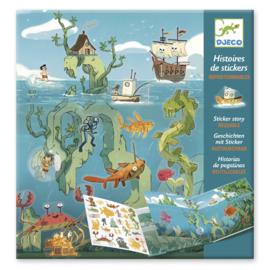 Djeco - Herplaatsbare stickers - Avonturen op zee