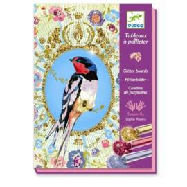 Djeco - Glitterschilderijen - Vogels