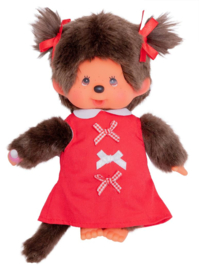 MONCHHICHI - Meisje red ribbon dress