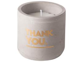 Kaars - Cement ø8x8cm - Thank You