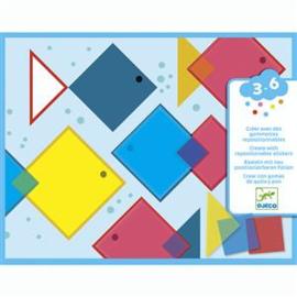 Djeco  - Creëren met stickers - magische vierkanten