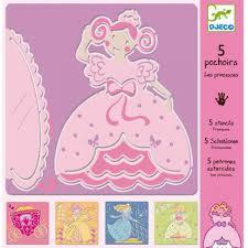 Djeco - Sjablonen - Prinsessen