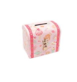 Spaarpot - Schatkist meisjes - Roze