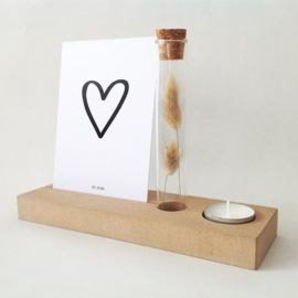 Memory Shelf - Vaasje droogbloemen - Kaart - Kaarsje - Hartje