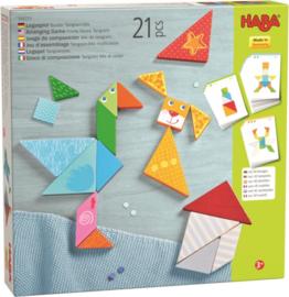 Haba - Legspel kleurrijke Tangrammix