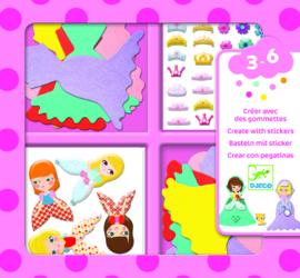 Djeco - Stickers - I love princesses