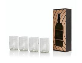 Rebottled Glazen 4pack - Clear