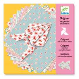 Djeco - Origami - 100 bedrukte blaadjes