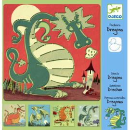 Djeco  - Sjablonen - draken