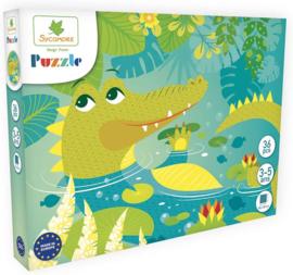 Au Sycomore - Puzzel - Krokodil