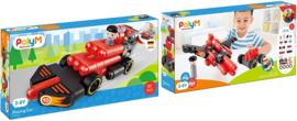 Poly M - Racing Car - Bouwblokken 31- Delig