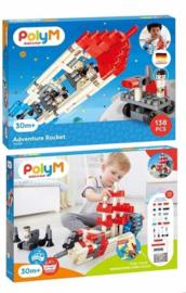 Poly M - Adventure Rocket - Bouwblokken 138-delig