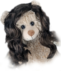 "LONG ""CURLY"" BROWN WIG"