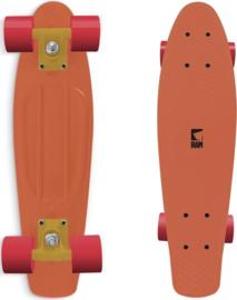 "Skateboard -  Old School 22"" Peach Orange"