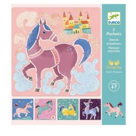 Djeco - Sjablonen - Paarden