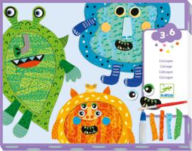 Djeco - Happy Monsters Collage Craft Kit