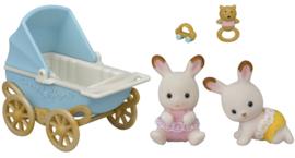 Sylvanian Families - Tweeling Chocolade konijn set