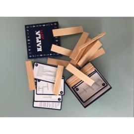 Kapla - Challenge 12 opdrachtkaarten met 16 plankjes