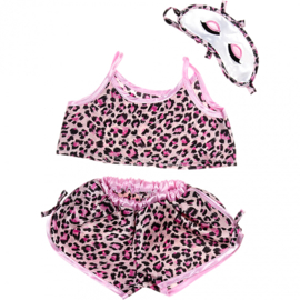 PINK LEOPARD PRINT PJ'S OUTFIT