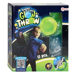 Fidget toy - Sticky Stretch Globbles Ballen Glow in the Dark, 12st
