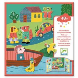 Djeco - Stickers - Dieren
