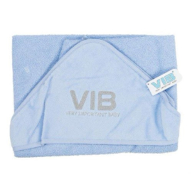 Badcape VIB - Licht blauw + Zilver