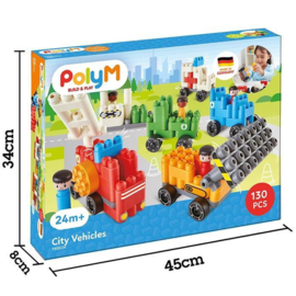Poly M - City Vehicles - Bouwblokken 130-delig