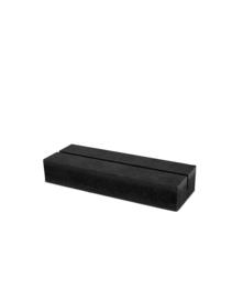 Muurcirkel - Standaard zwart hout - 9cm