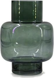 Glazen vaas - Groen - 20 cm