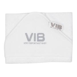 Badcape VIB - Wit + Zilver