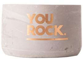 Kaars - Cement ø10x6.5cm - You Rock