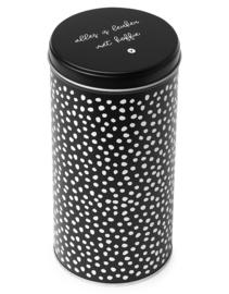 Koffieblik zwart - Alles is leuker met koffie