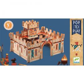 Djeco - Puzzel - Pop to play Middeleeuws kasteel
