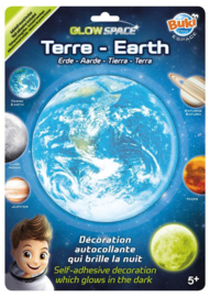 Buki 3D Glow Sticker Aarde