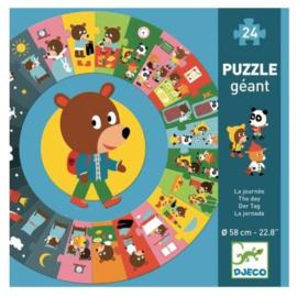 Djeco - Reuzenpuzzel De Dag - 24 stuks