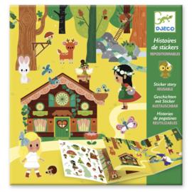 Djeco - Herplaatsbare stickers - Magical Forest