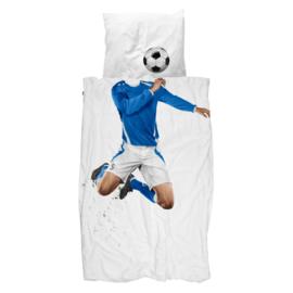 Snurk Dekbedovertrek - Voetbal blauw