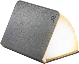 Gingko - Mini Smart Book Light Linen Fabric - Urban Grey