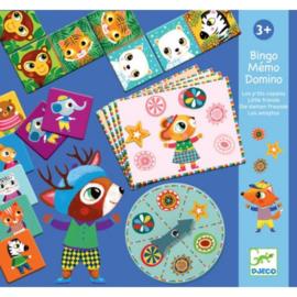 Djeco - Bingo, memo en domino - Kleine vrienden