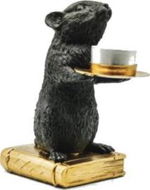 Kandelaar muis zwart