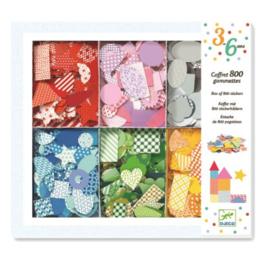 Djeco - Box met 800 confetti stickers