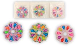 Fidget toy -  Magic Fidget 8 Pop it spinner - 9 cm