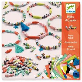 Djeco - Papieren kralen Lente-armbanden