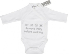Body VIB - Remove baby before washing - Wit