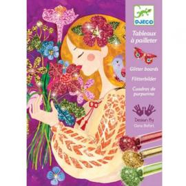 Djeco glitterschilderijen - bloemengeuren