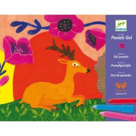 Djeco - Gelpastels - Wilde dieren