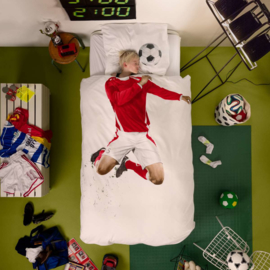 Snurk Dekbedovertrek - Voetbal Rood